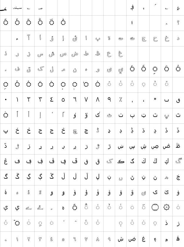 AlQalam Kashif Outline Urdu Font