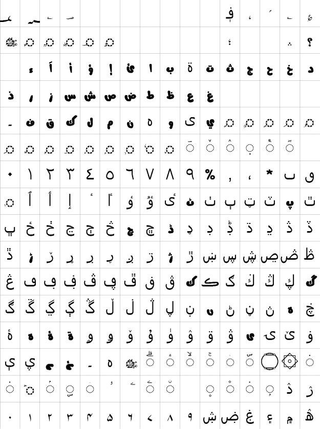 AlQalam Mujeeb Urdu Font