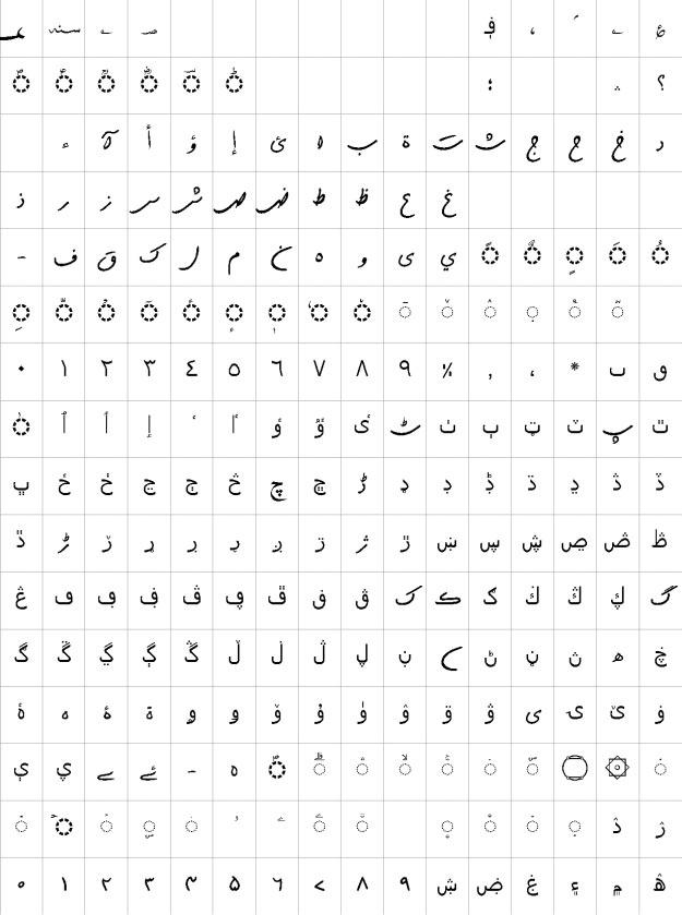 AlQalam Shekastah Urdu Font