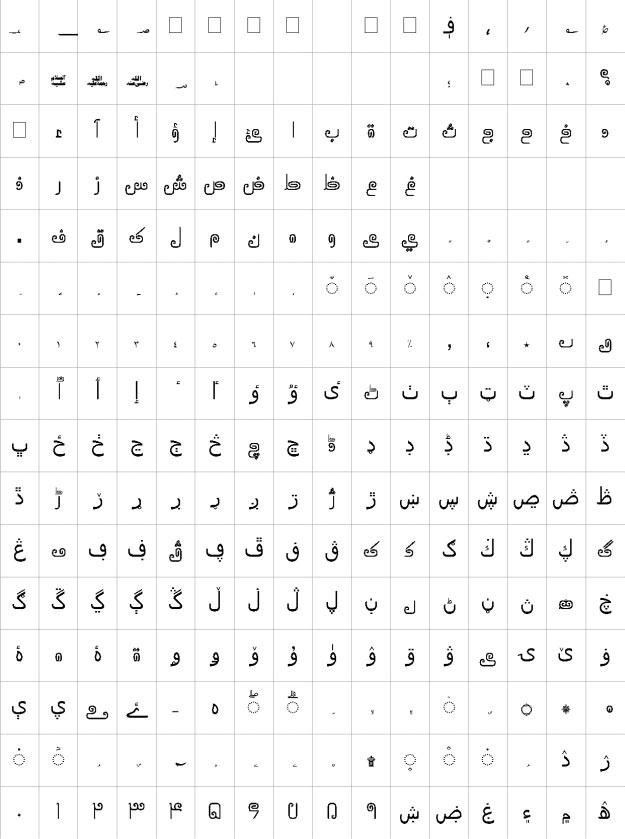 AlQalam Tafseer Urdu Font