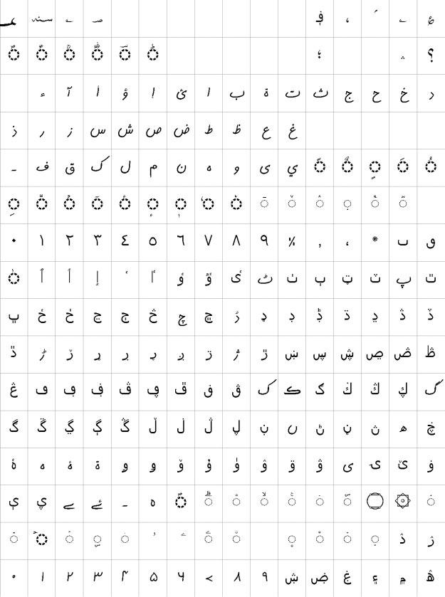 AlQalam Tehreeri Urdu Font