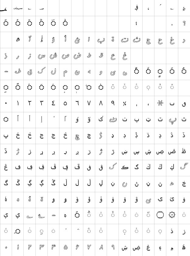 AlFars 2 Kamran Outline Urdu Font