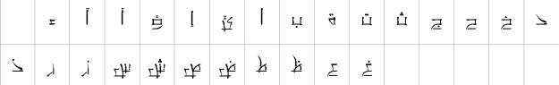 AlFars 22 Chinies Urdu Font