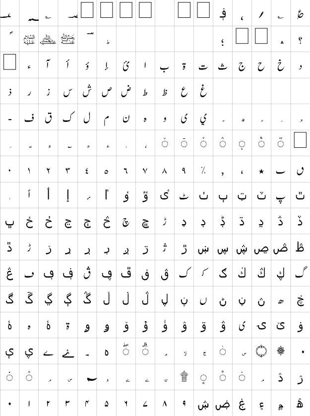AA Sameer Zikran Urdu Font