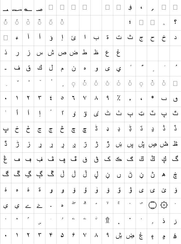 BPG Glaho Arial Urdu Font