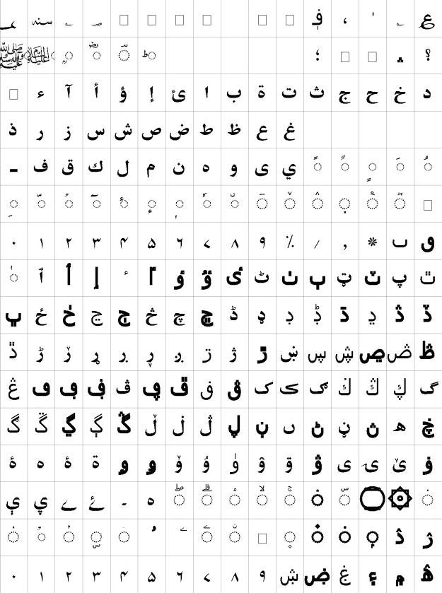 Ghadeer Urdu Font