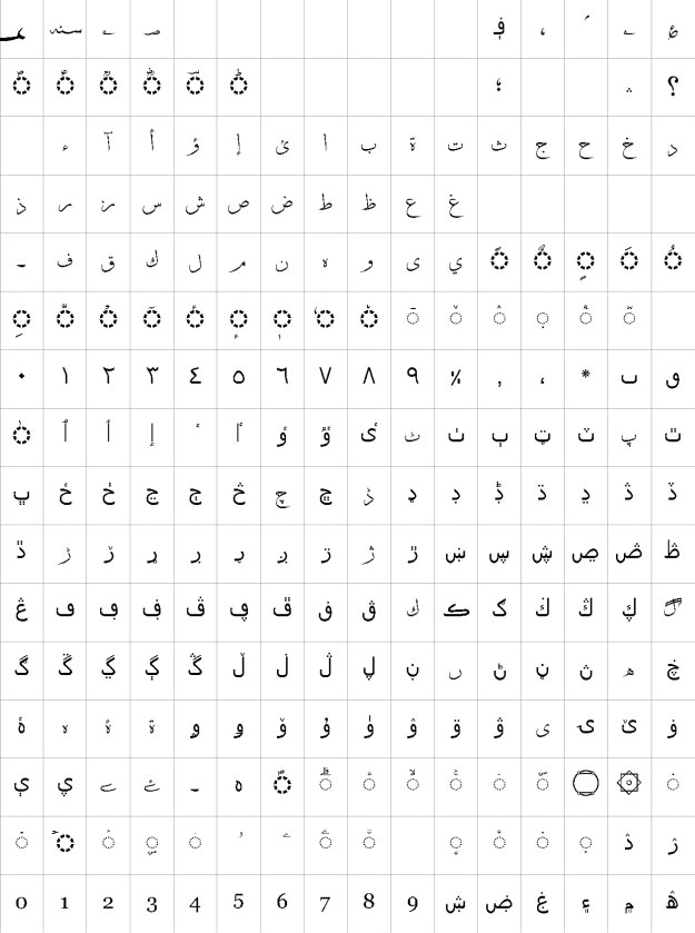 Ibne Zia Urdu Font