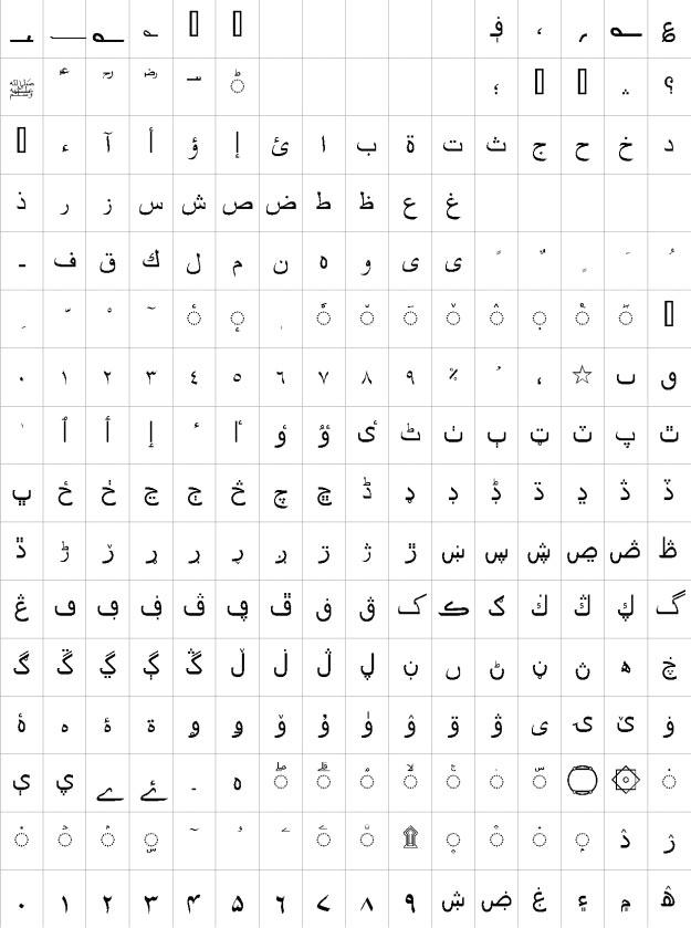 Nazia Bold Urdu Font