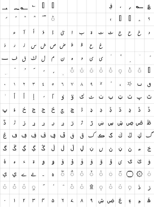 Urdu Tehreer Urdu Font