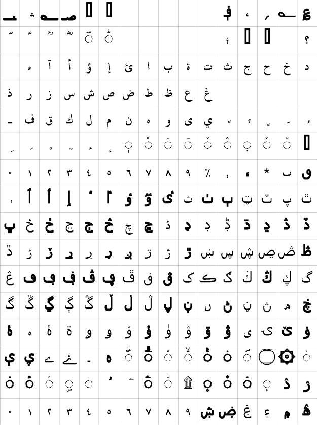 Uthman Taha Naskh Bold Urdu Font
