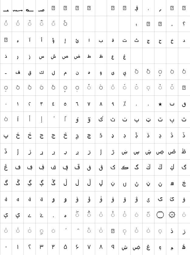 Mahdi Urdu Font