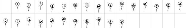 PT Separated Baloon Urdu Font