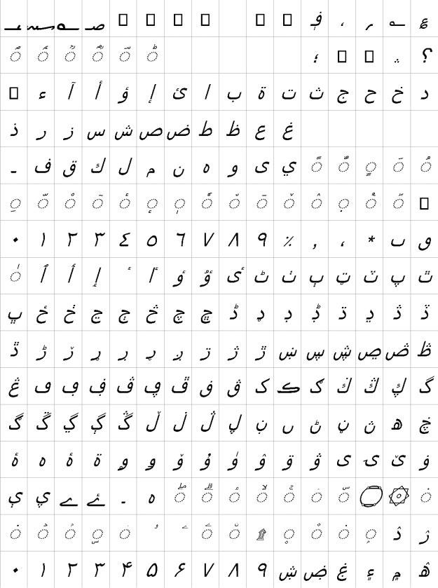 Segoe UI Negreta Urdu Font