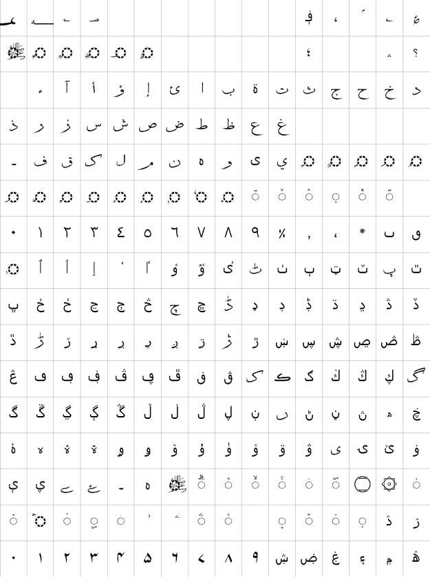 Attari Sulus Urdu Font