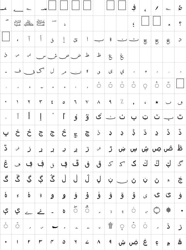 Khat-e-Sulas Shipped Urdu Font