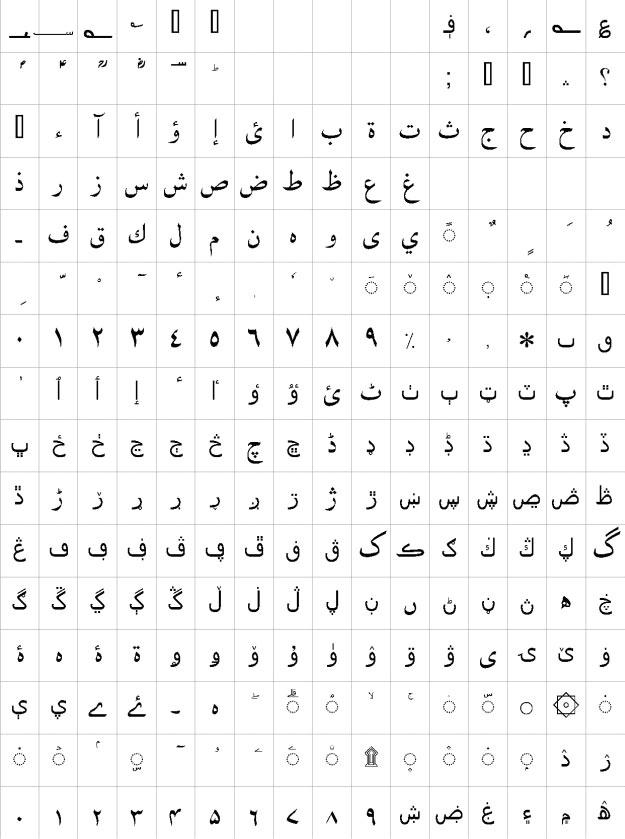 Manqoosh Urdu Font