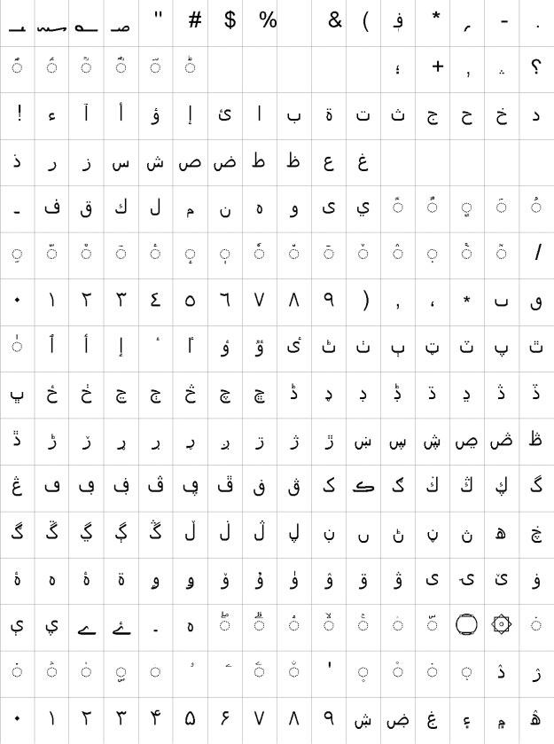 Nafees Pakistani Web Naskh Urdu Font