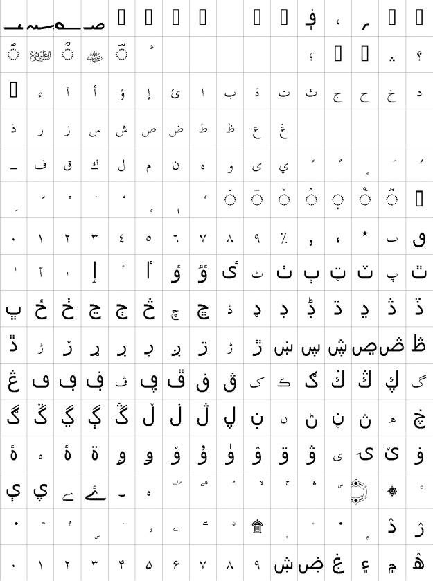 PDMS_Saleem_QuranFont Urdu Font