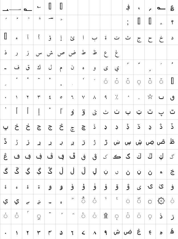 Sahab Urdu Font