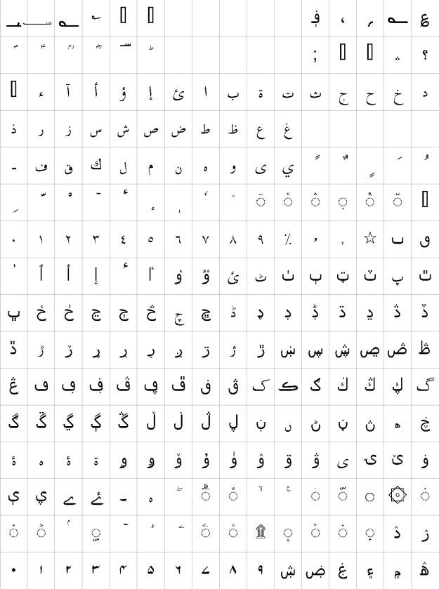 Urdu Naskh Unicode Urdu Font