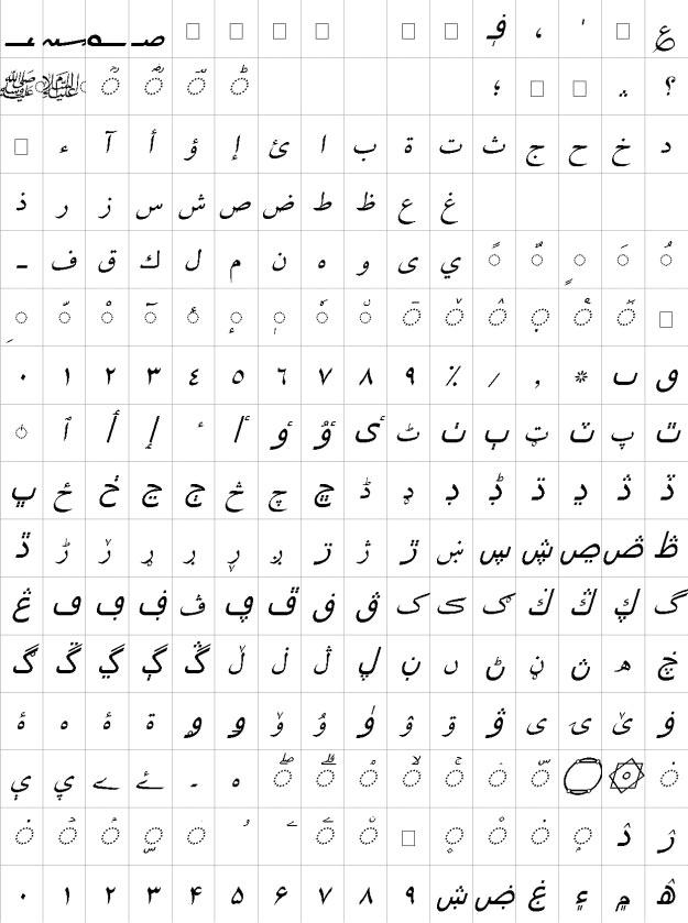 Zarreen Italic Urdu Font