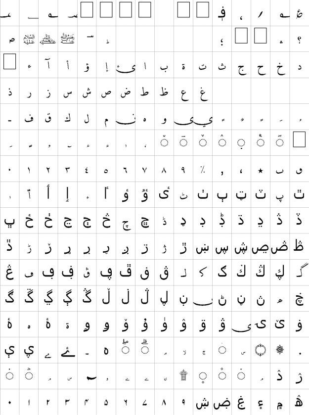 Ahmed Urdu Font