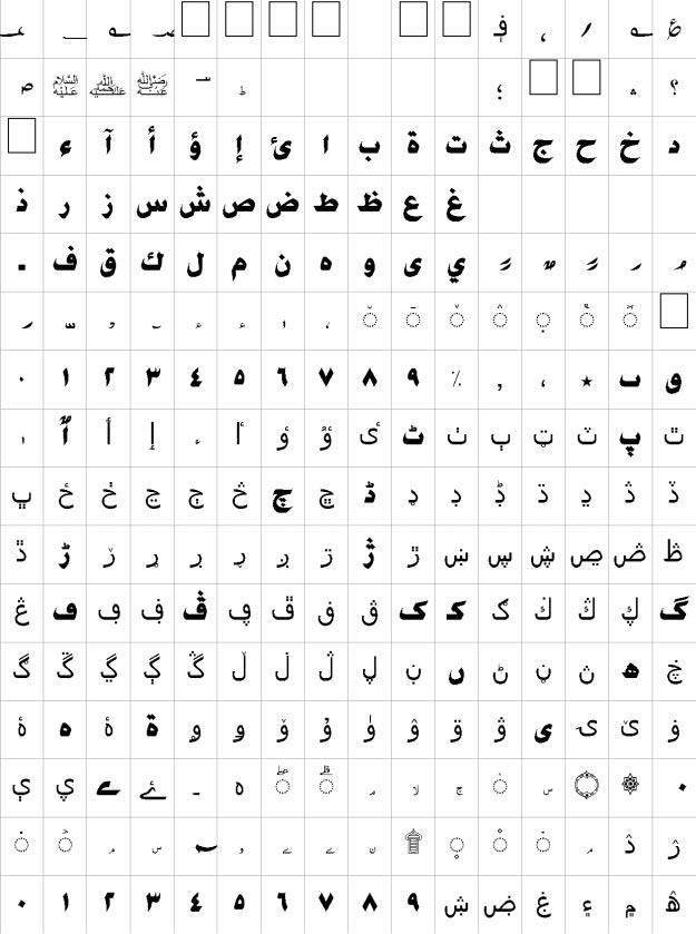 Arif Urdu Font