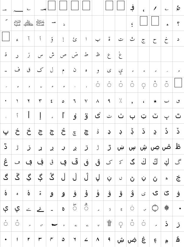 Burhani Unicode Urdu Font