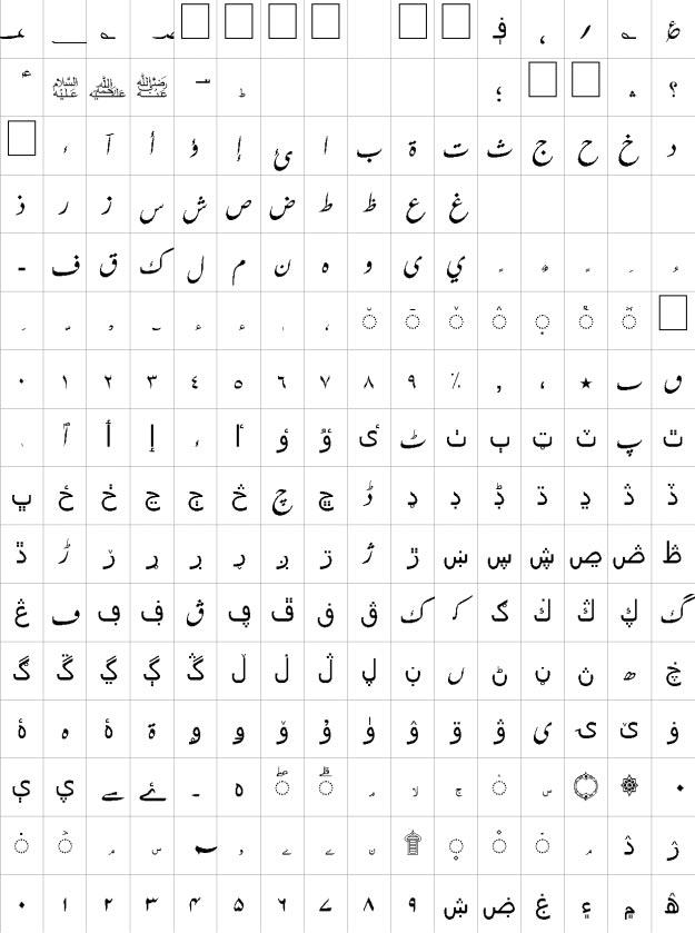Farsi Unicode Urdu Font