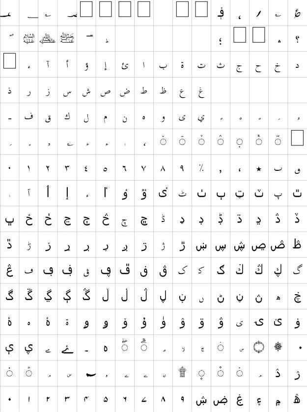 Ghalib Unicode Urdu Font