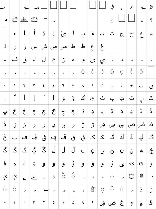 Haider Urdu Font