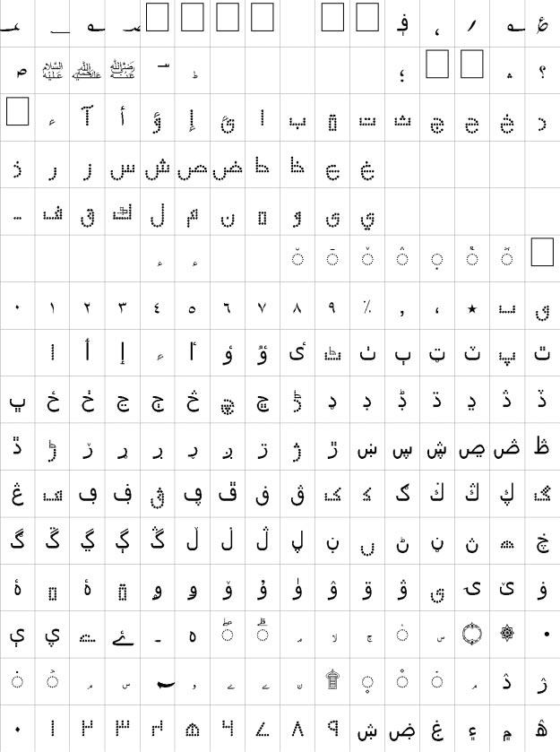 Ibteda Unicode Urdu Font