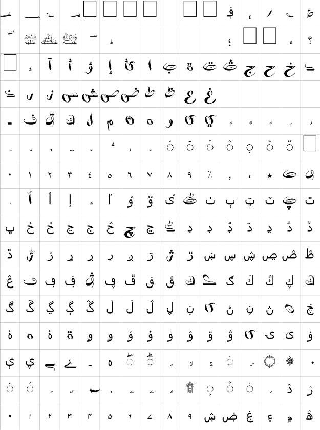 Kafeel Unicode Urdu Font