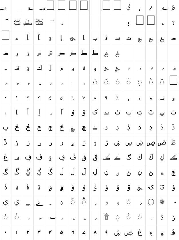 Makkah Contour Unicode Urdu Font