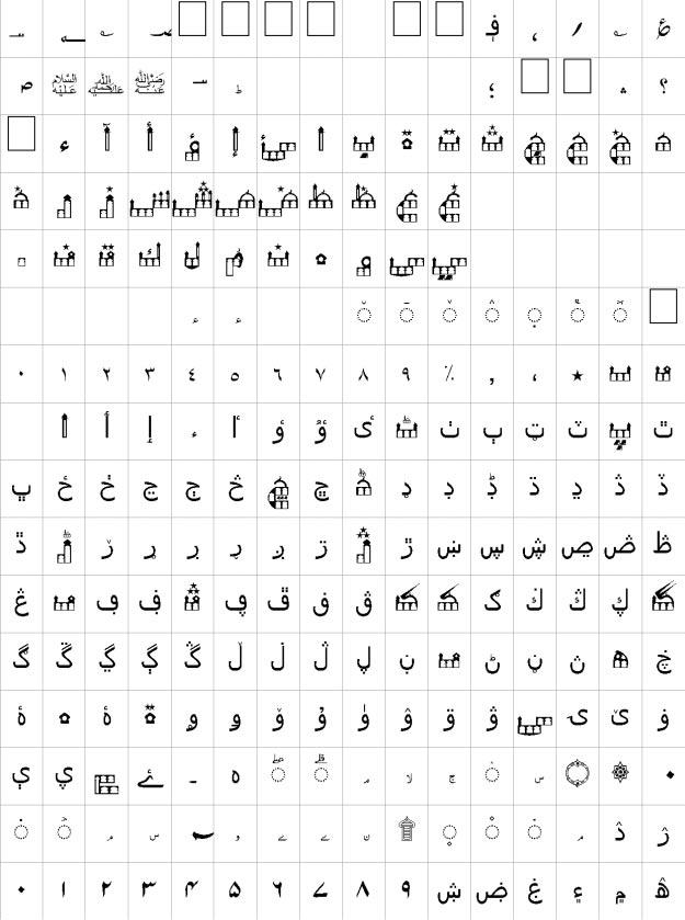 Masjid Unicode Urdu Font