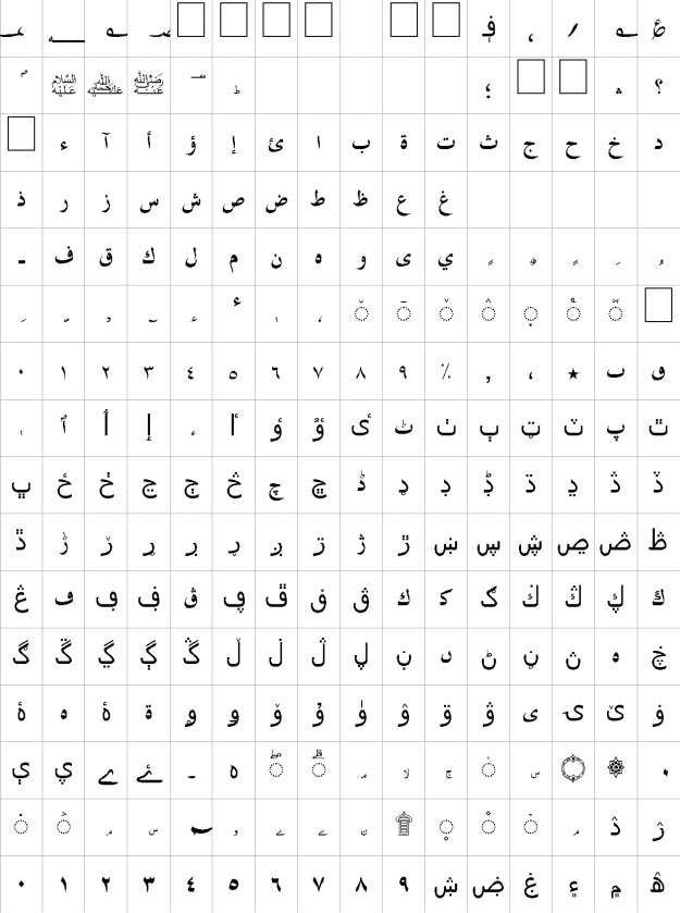 Pushto Unicode Urdu Font
