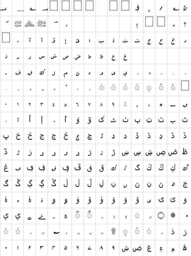 Rouqa Unicode Urdu Font