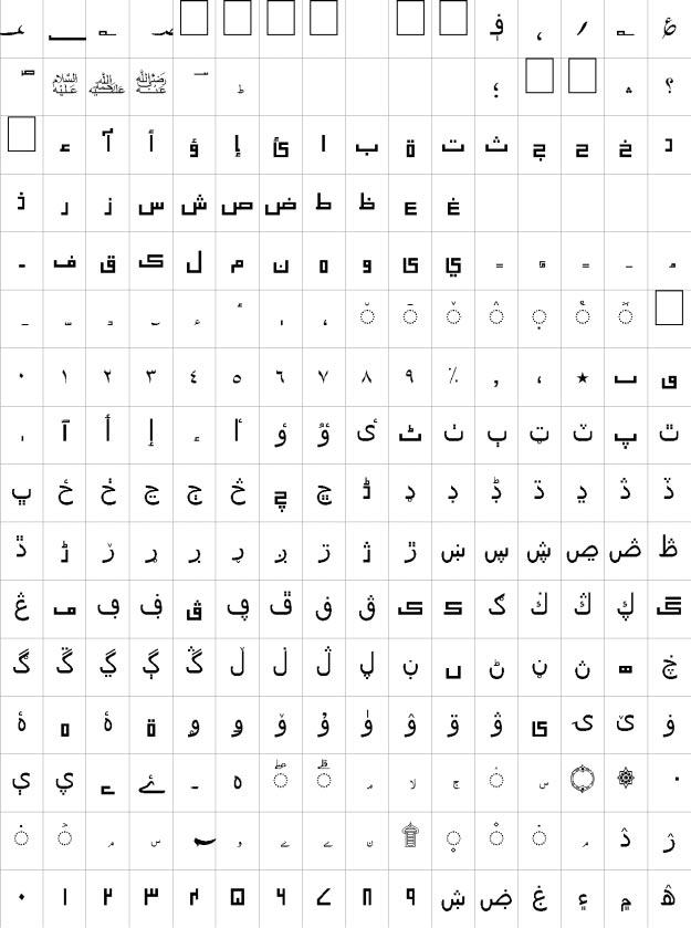 Talat Unicode Urdu Font