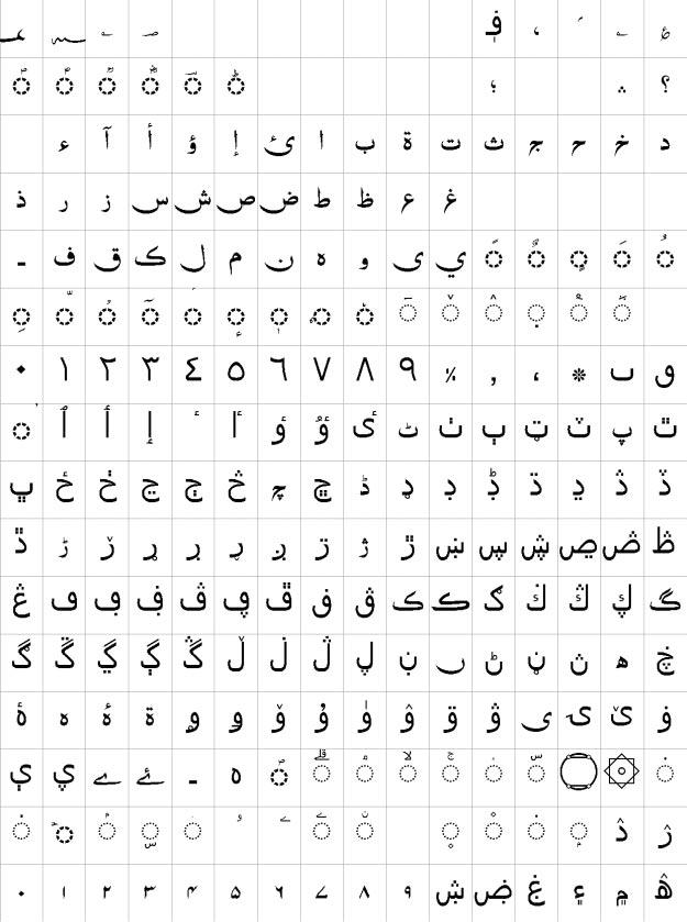 Zohar Unicode Urdu Font
