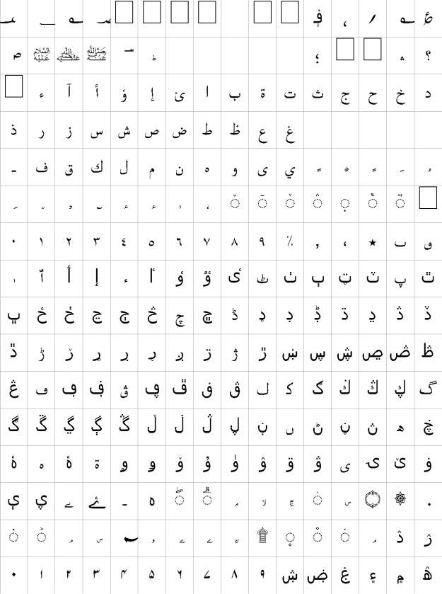 Zoya Urdu Font