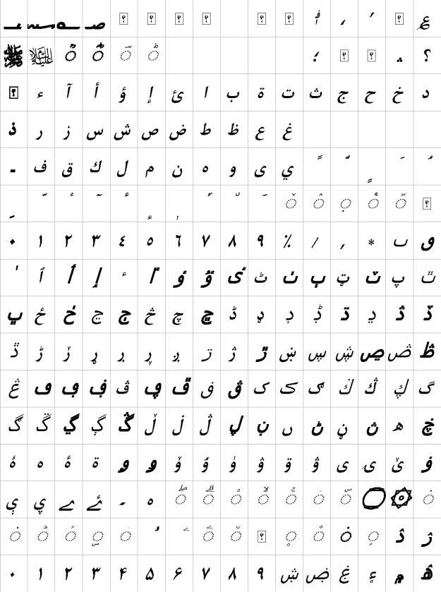 XB Kayhan Bold Italic Urdu Font