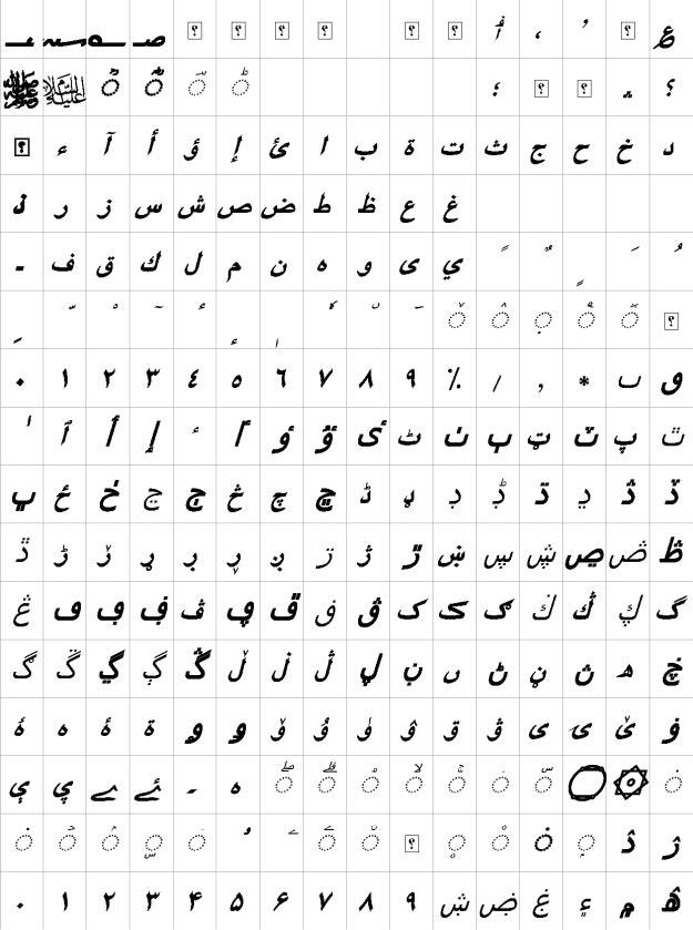 XB Riyaz Bold Italic Urdu Font