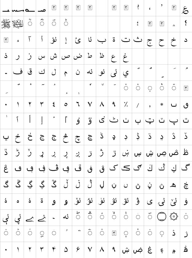 XB Shafigh Uzbek Urdu Font