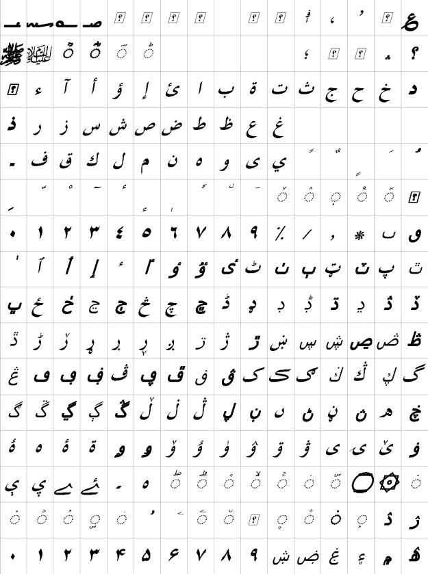 XB Shiraz Bold Italic Urdu Font
