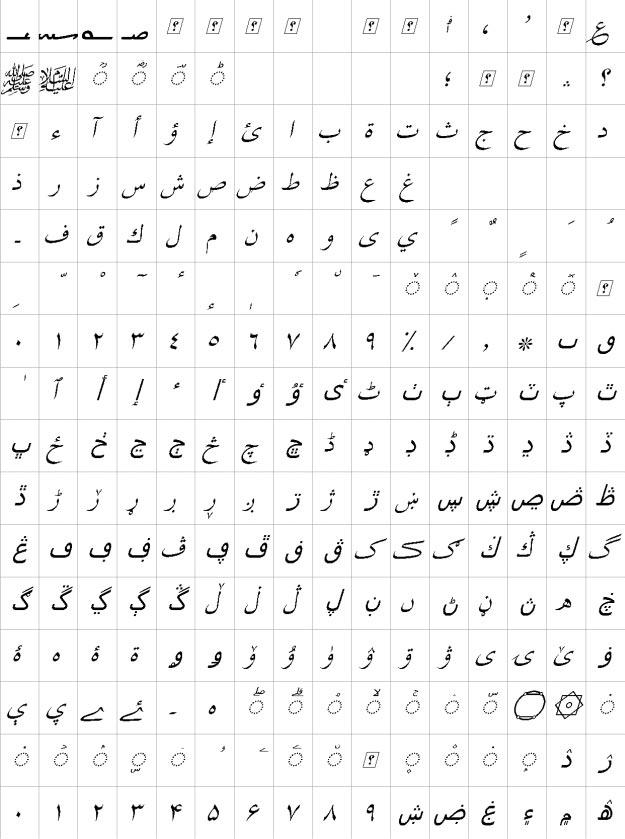 XB Shiraz Italic Urdu Font