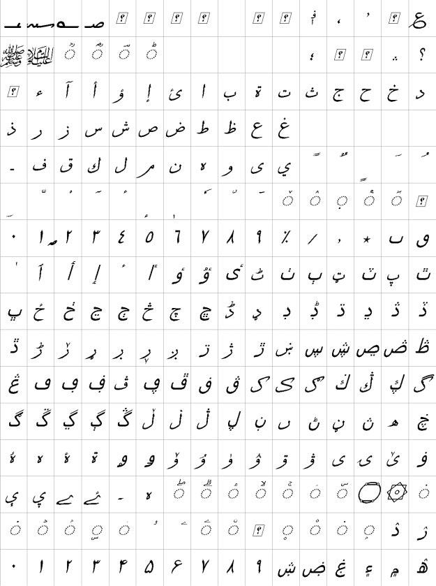 XB Sols Italic Urdu Font