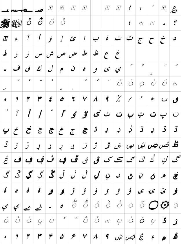 XB Tabriz Bold Italic Urdu Font