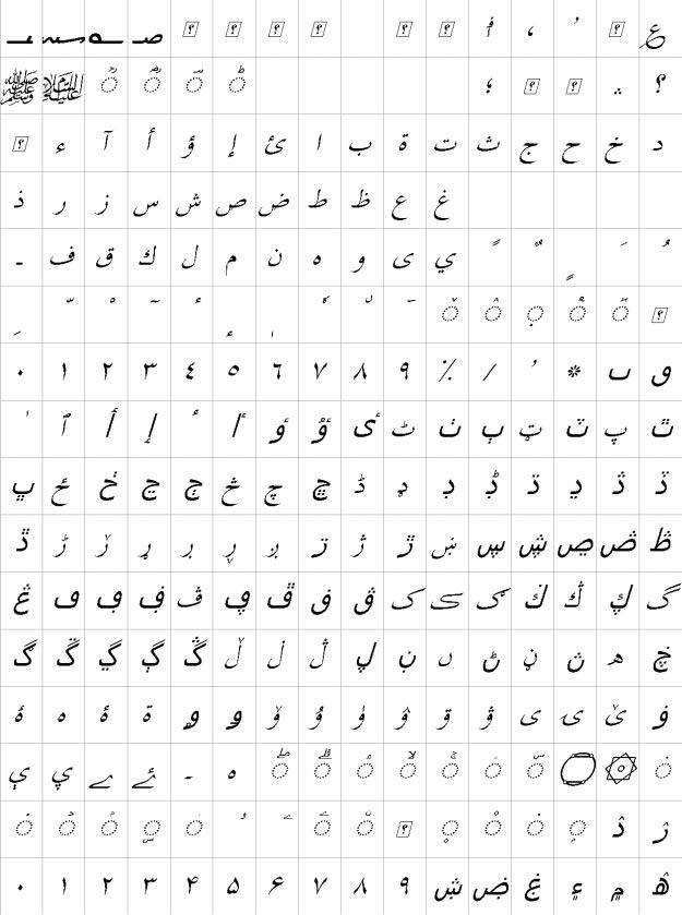 XB Tabriz Italic Urdu Font