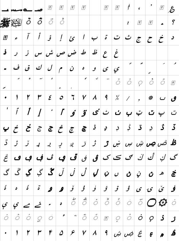 XB Yas Bold Italic Urdu Font