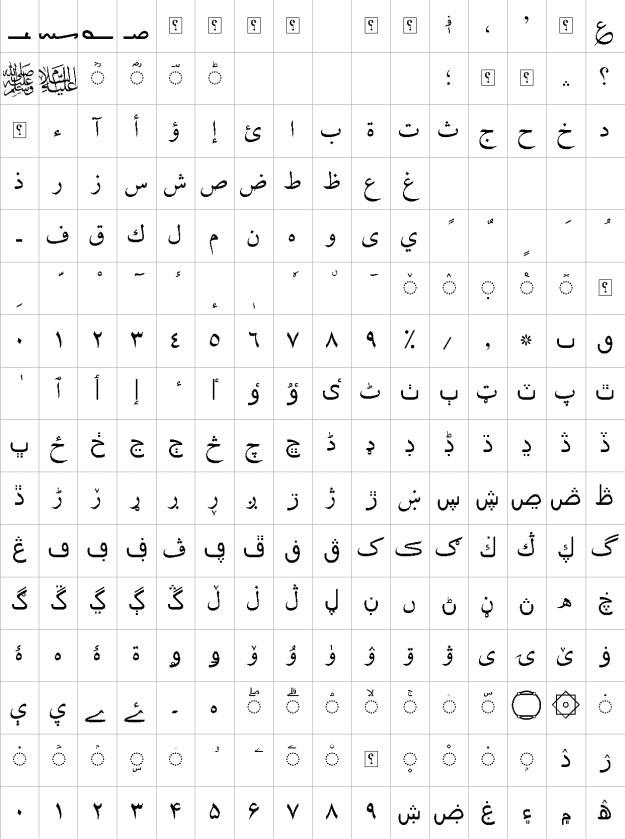XB Zar Urdu Font